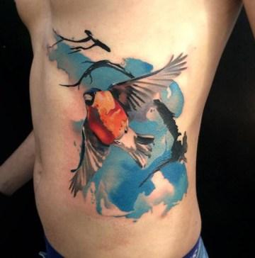 Bullfinch tattoo