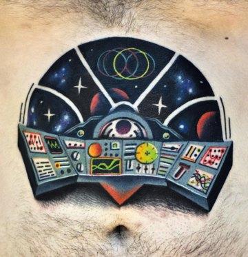 Spaceship Control Center Tattoo