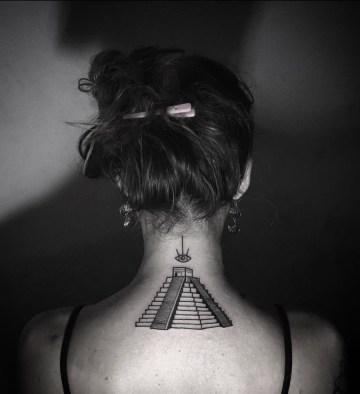 Mayan Pyramid Tattoo
