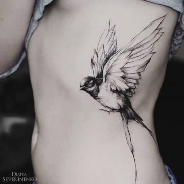 Swallow Side Tattoo