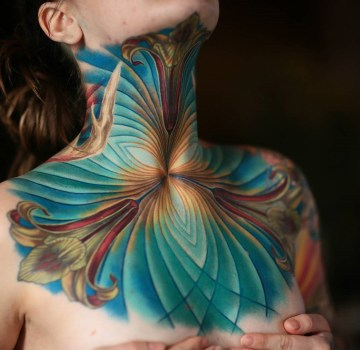 Ornamental lilies, neck & chest