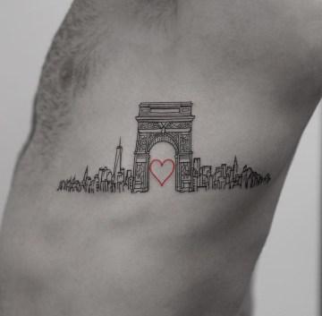 Washington Square Arch, Love New York City Tattoo