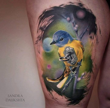 Gray-chinned Minivet Tattoo