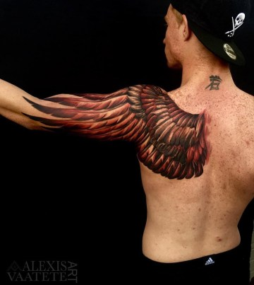 Wing Shoulder & Arm Tattoo