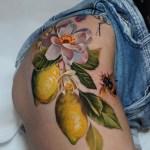 Lemons Hip Tattoo