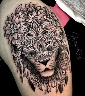 Floral Mandala Lion