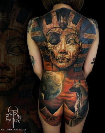 Egyptian back close-up