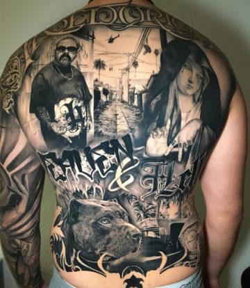 Heaven & Hell, Men's Full Back Tattoo