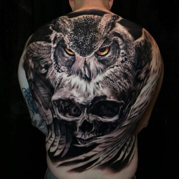 Owl & Skull