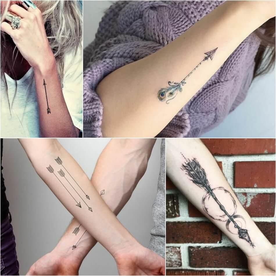 тату стрела идеи и значение татуировки со стрелой Tattoo Ideasru
