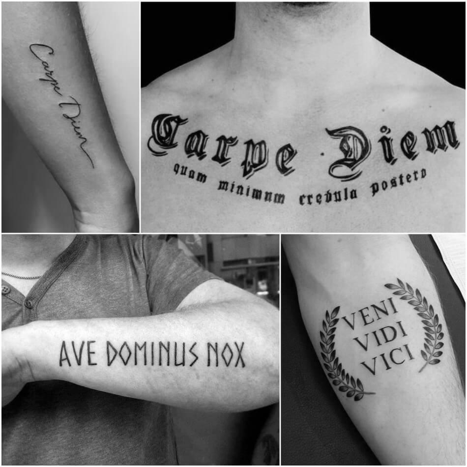 что значит тату надпись тату надписи и их значение