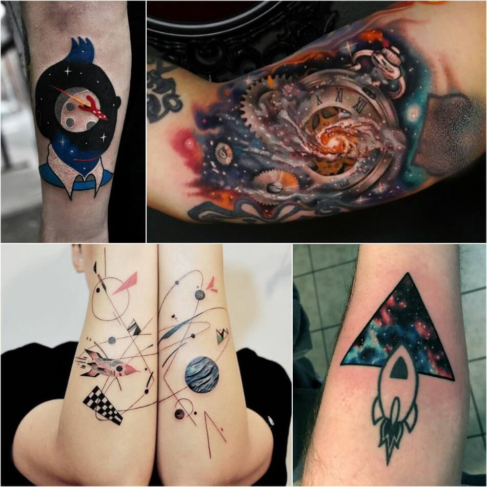 тату космос небесные тела и просторы вселенной в татуировках