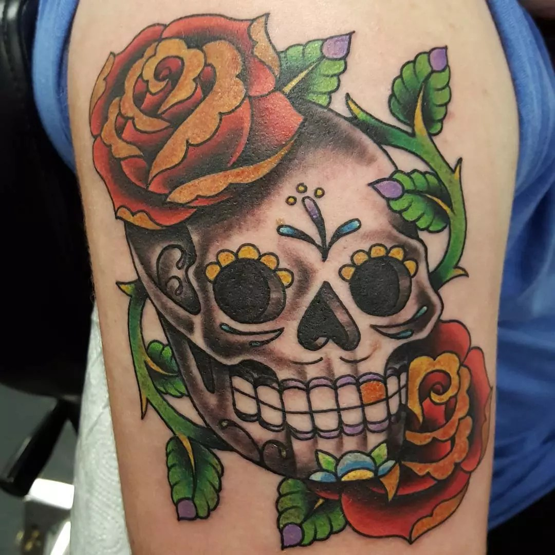 Sugar Skull Girl Tattoo Meaning