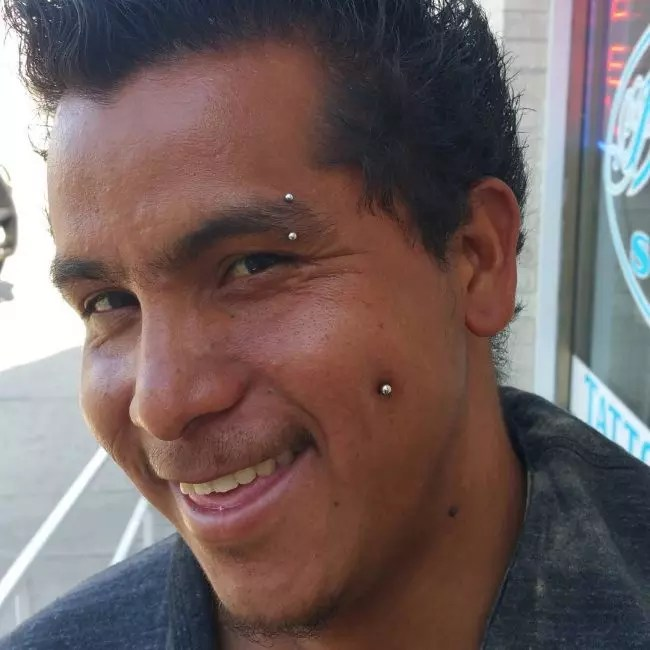 Men Piercing Dimple