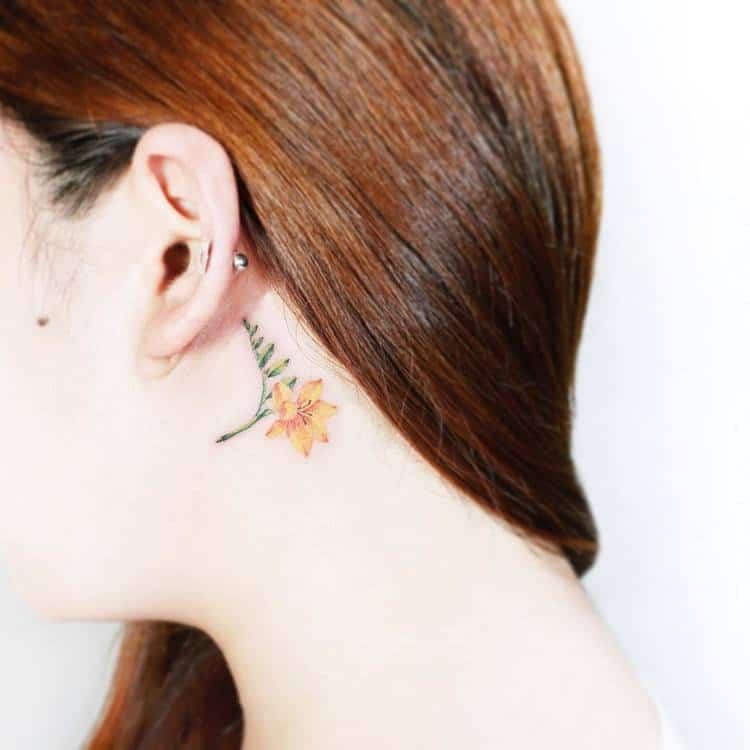 22 Beautiful And Delicate Freesia Tattoo Designs Page 2