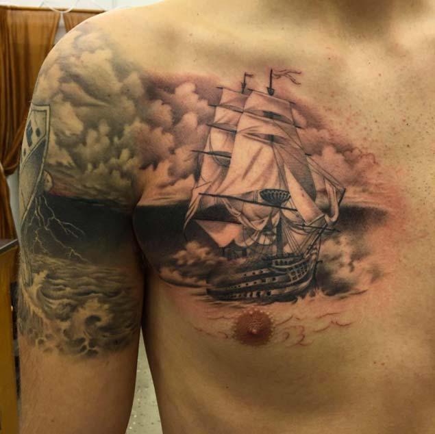 Lighthouse Thigh Tattoos