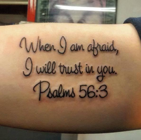 Psalm 23 4 Tattoo Designs