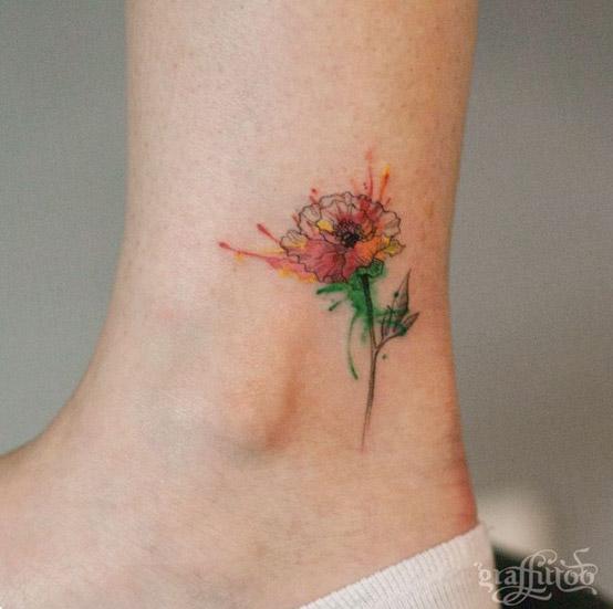 Small Daisy Tattoo