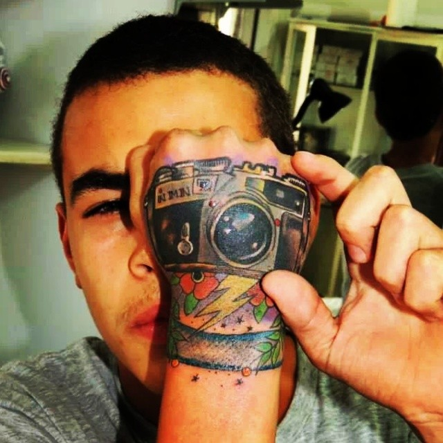 3d camera tattoo designs for men on hand  3d Camera Tattoo Designs for Men on Hand 3d camera tattoo designs for men on hand