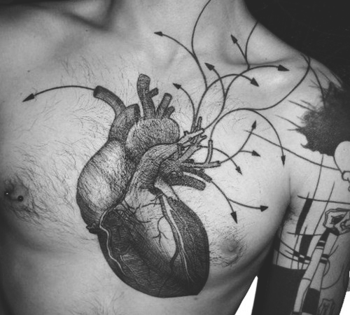 Anatomical Heart Tattoos 8