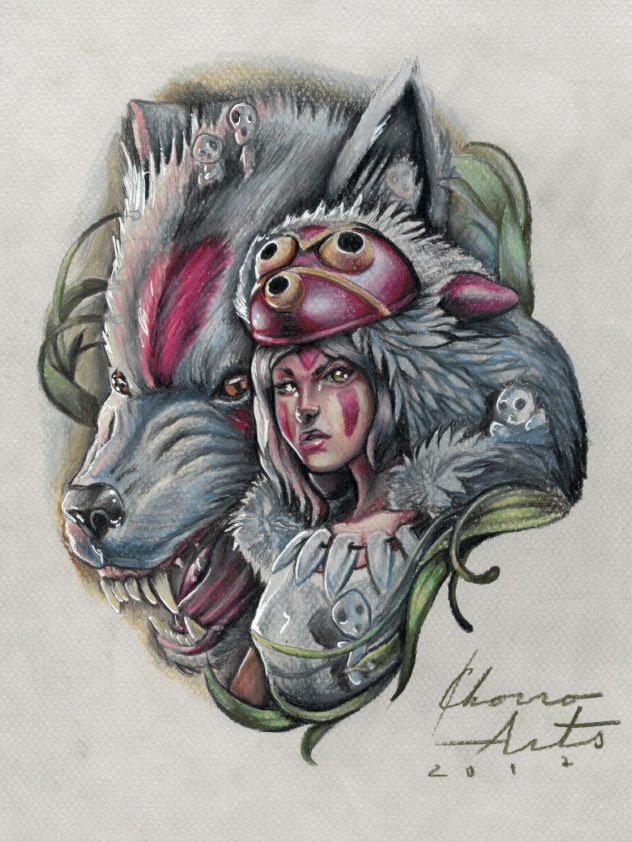 fanart mononoke tattoo palencia