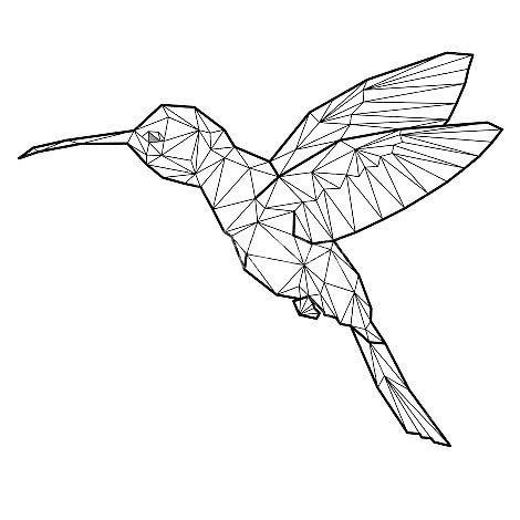 Simple Black And White Hummingbird Tattoo Drawing Apem