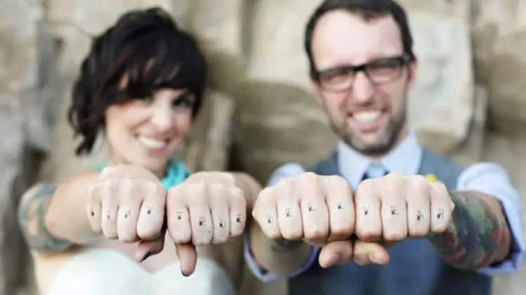couples knuckle tats