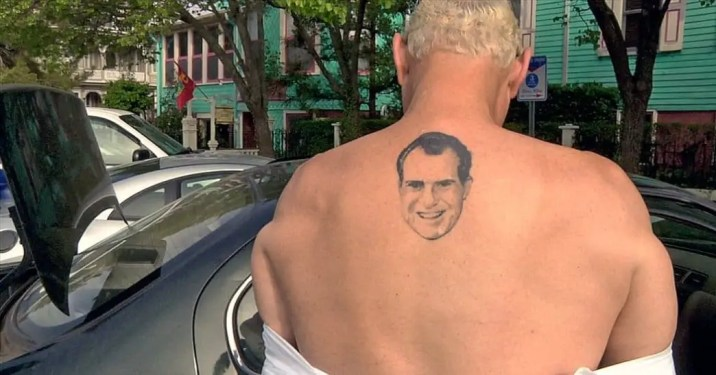 roger stone back tattoo