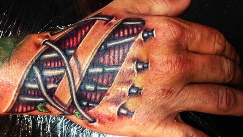 3d tattoo robot hand