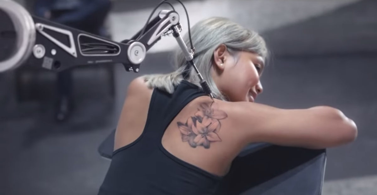 robot tattooing