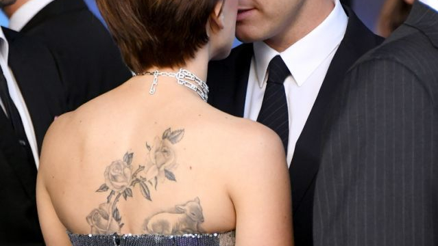 scarjo back tattoo avengers