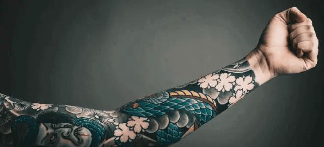 tattooed arm