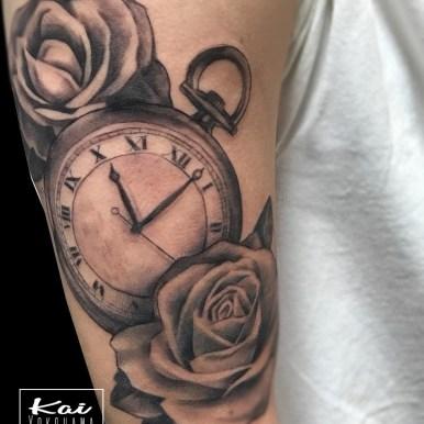 バラ 懐中時計 roses pocket watch