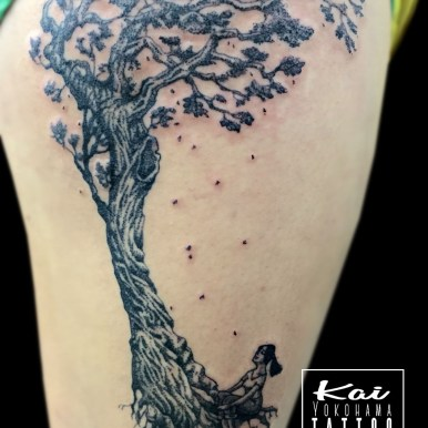 tree dot tattoo