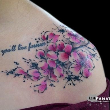 watercolor 水彩 ウォーターカラー 桜