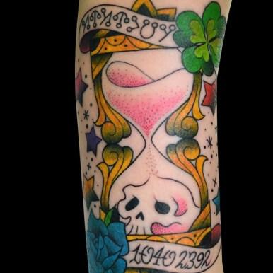 hourglass clover skull スカル 砂時計 クローバー バラ