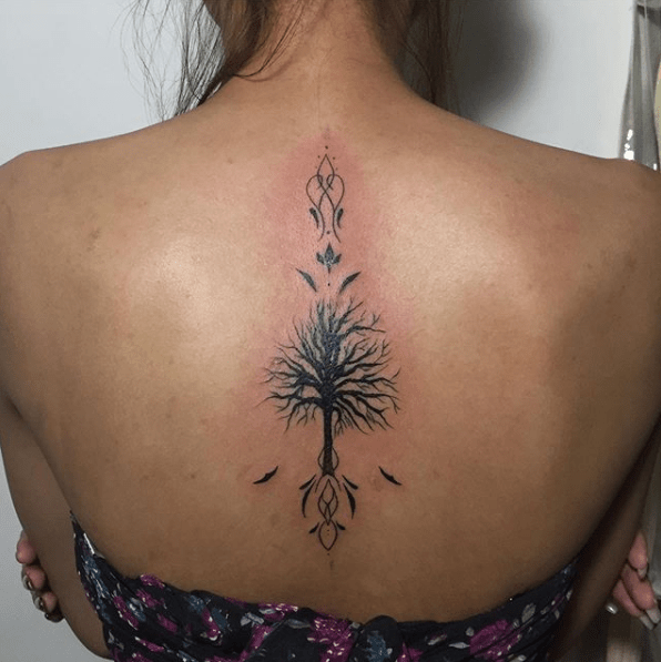 tree of life back tattoo
