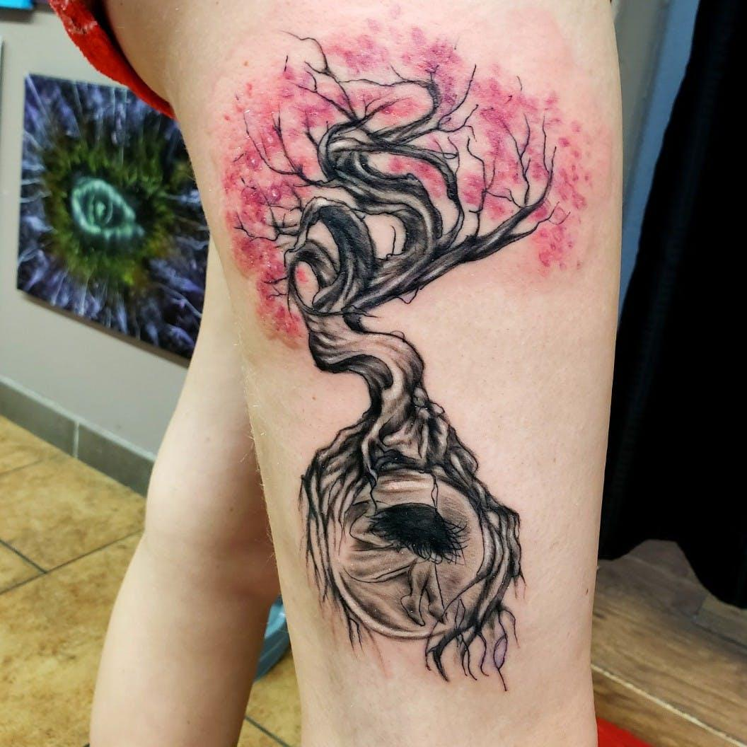 viking tree of life tattoo