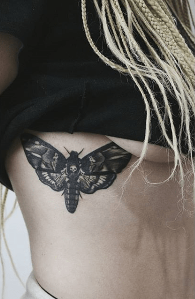 death moth tattoo