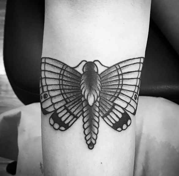 moth tattoo