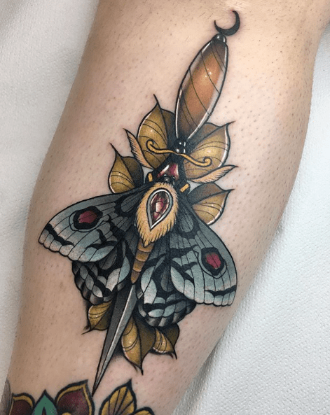 moth tattoo design