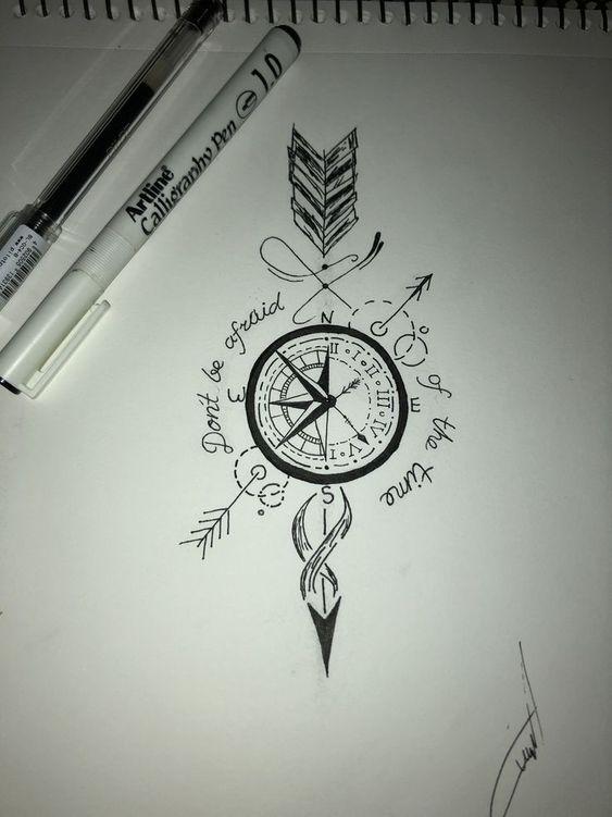Joli symbole tatoué