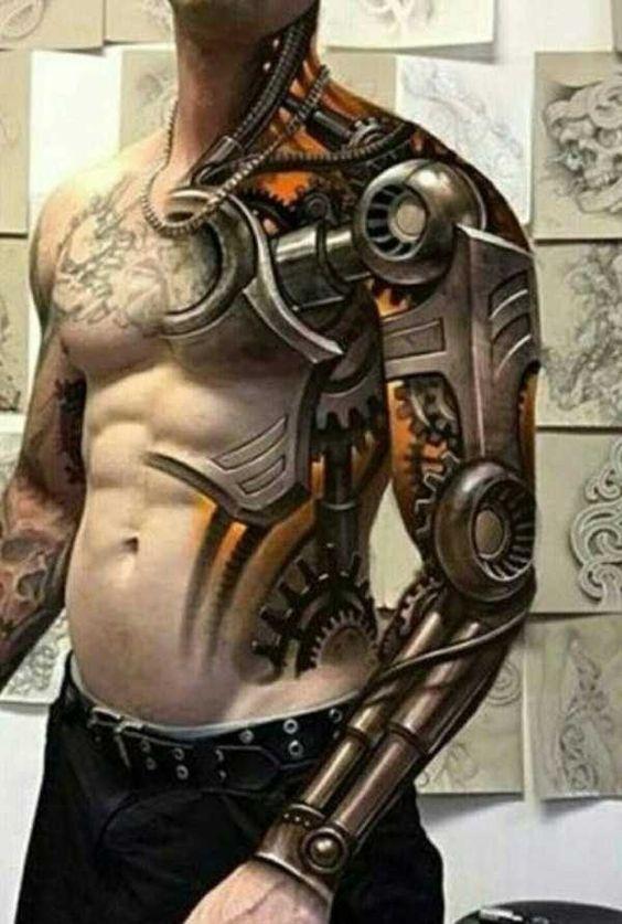 Différentes parties du corps tatouées