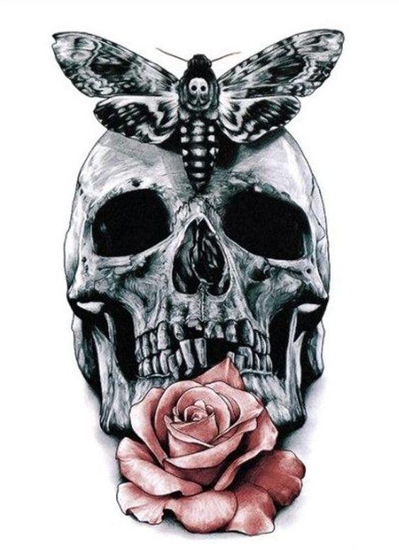 tatouage 3D Crâne