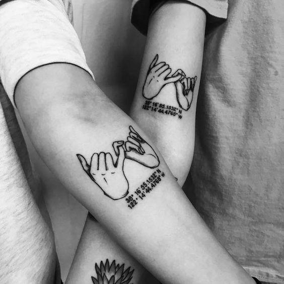 Union pour toujours, idée tatouage frere et soeur