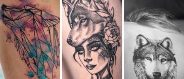 tatouage loup, Motif tatouage : Tatouage loup et symbolisations pour femme et homme