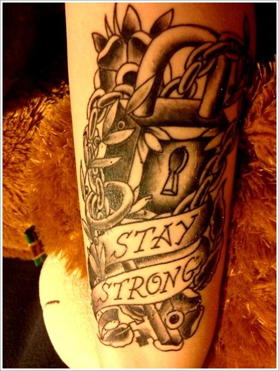 conception de tatouage de serrure (27)