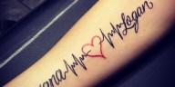 , 30 idées et conceptions et significations de tatouage de battement de coeur – Ressentez votre propre rythme  (En images)