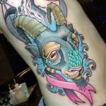 , 55+ conceptions de tatouage Capricorne cool – La signification principale est… (2020)  (En images)