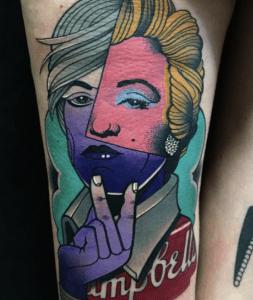 , Tatouage Andy Warhol: le guide et les significations  (En images)